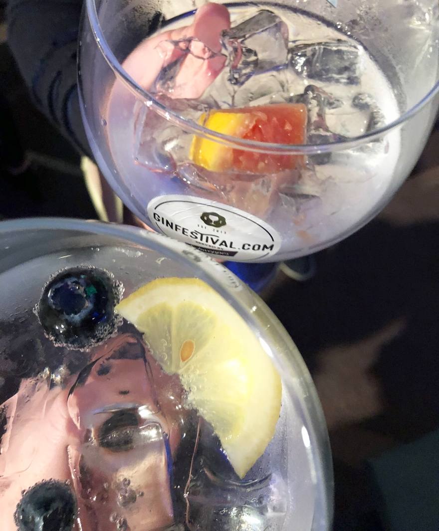 Cheers! Two gins at Gin Festival