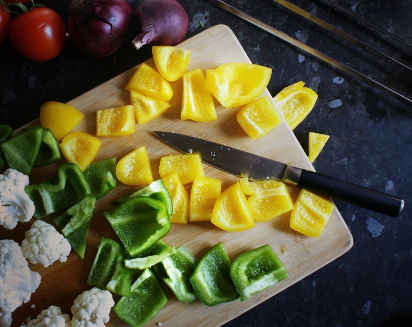 Chop the veg into chunks